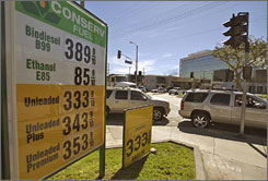 Conserv Fuel in Los Angeles sold ethanol E85 fuel for only 85 cents a gallon for two hours Tuesday.