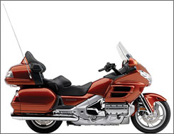 Last year, the Marysville, Ohio, plant produced about 44,000 Gold Wing touring and VTX cruiser bikes. This is a 2007 Gold Wing.
