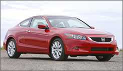 2008 Honda Accord EX-L V-6 with 6-speed manual transmission.