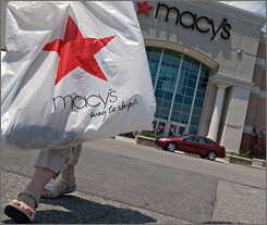 Macy's opened 10 stores last year and plans five debuts in '08. Retailers are using various strategies to gain or keep business as the economy slows.