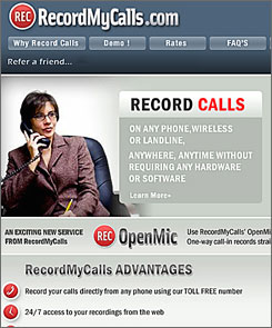 With RecordMyCalls.com, you can easily keep a record of any phone conversation you originate.