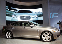 A Jaguar XF at the '07 Los Angeles Auto Show. Ford paid $2.5B for the brand several years ago.