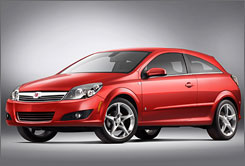 GM is controlling the number of its imports like the Saturn Astra as the dollar falls in value overseas.