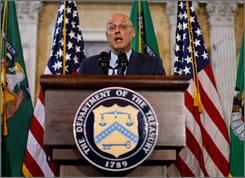 Treasury Secretary Henry Paulson presents the regulation overhaul proposal.
