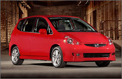 Small car's sales are up including the 2008 Honda Fit.