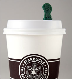 "Starbucks' ""splash sticks"" are in the in the shape of the siren from the coffee chain's logo."