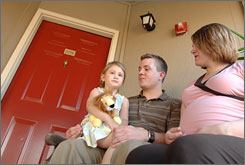 Brannon and Sarah Cox, with their 4-year old daughter, Darby, and another child on the way in about two weeks, sold their home in Texas after their loan payment nearly doubled. Now they're paying in rent what their initial mortgage payment was.