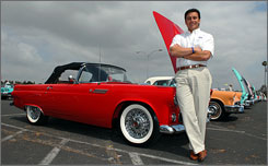 Mark Fields, North American chief for Ford, at a car show at Knott's Berry Farm in Buena Park, Calif. 