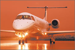 The use of regional jets, like this from Brazil's Embraer company, peaked several months ago.