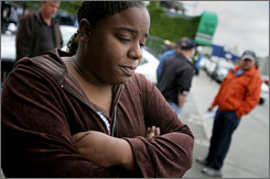Detroiter Tiffany Gardner, 33, voted against the contract.