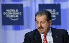 Dow Chemical Chairman Andrew Liveris at the World Economic Forum in January.