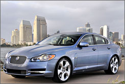 After Tata acquires Jaguar and Land Rover, it plans to keep the lines separate, as it did with Daewoo. Shown here: a 2009 Jaguar XF sedan.