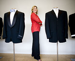 Software Spectrum co-founder Judy Odom, at a Mister Tuxedo in Dallas, ran a tuxedo rental shop as a 17-year-old in Fort Worth.