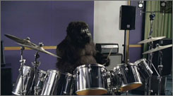 The winning TV ad at this year's Cannes Lions competition features a gorilla drumming to a rock tune, an attention-getter for Cadbury Dairy Milk chocolate.