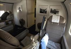 OpenSkies' Boeing 757 features three cabins, including a business class with 24 lie-flat seats.