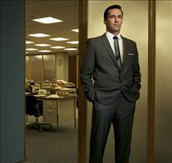 Jon Hamm portrays Don Draper in the AMC drama &quot;Mad Men.&quot; Its second season starts July 27.