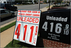 A Fairfax, Va., gas station offers a discount for cash payments to offset card processing costs.