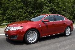 The 2009 MKS, a full-size sedan based on Ford's Taurus, is the Lincoln luxury brand's new flagship.