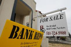 A bank-repossessed home for sale in Vallejo, Calif.