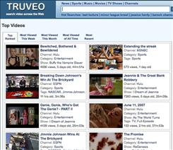Video-search site Truveo, owned by AOL, focuses on building a comprehensive index of video clips.