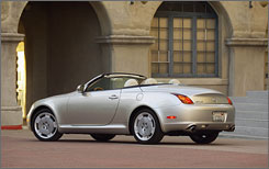 The Lexus SC 430 ranked as the top premium sporty car.