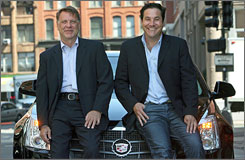 Gary Koepke, left, and Lance Jensen, co-founded the offbeat ad agency Modernista in Boston. The hip agency has handled clients ranging from Gap to MTV to Cadillac.