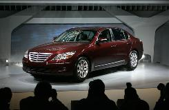 The 2009 Hyundai Genesis is introduced at the North American International Auto Show.