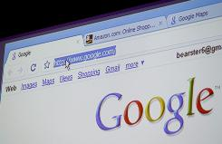 Google Chrome, a new Web browser, is shown Tuesday at Google offices in Mountain View, Calif.