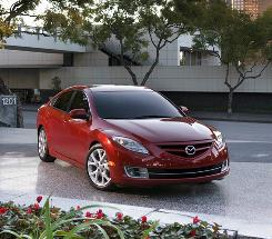Marvelous styling and a V-6 version that packs a lot of power help make Mazda6 a midsize contender.