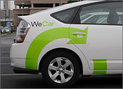 Enterprise will make its car sharing service, WeCar, available to some corporate customers, government agencies and universities nationally.