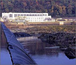 PPL's Holtwood hydroelectric plant on the Susquehanna River about 15 miles south of Lancaster, Pa.