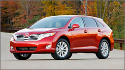 Steering qualms aside, all four versions of Toyota's 2009 Venza  front- and all-wheel drive, four- and six-cylinder  offer a pleasant, smooth, relaxing drive.