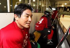 """Guy Kawasaki plays hockey in Redwood City, Calif. """"Ambitious failure, magnificent failure, is a very good thing,"""" the unconventional entrepreneur says."""