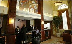 Hotel lobbies may getting more quiet as U.S. occupancy rates are expected to keep falling.