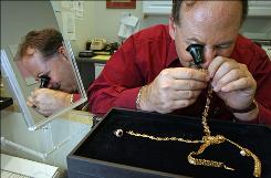 Gary Liebert, owner of Harts Jewelers, has seen a rush of his customers bringing in items for him to buy, like gold.