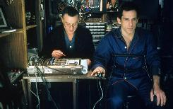 "Robert De Niro, left, gives Ben Stiller a lie-detector test in a scene from ""Meet the Parents."" The movie also includes a funny scene about a rental car."