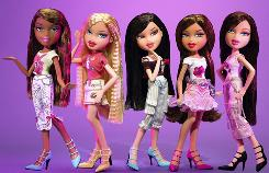 "The ""Feelin' Pretty"" line of Bratz dolls."