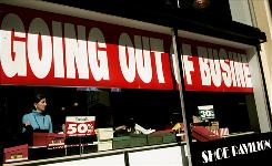 As stores closed down  like this Shoe Pavilion store in San Francisco  retailers cut 91,300 jobs in November.