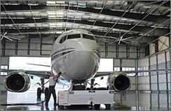 Bob Hope Airport in Burbank, Calif, has a solar-powered hangar.