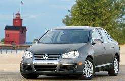 Volkswagen's 2009 Jetta TDI has amazing power at suburban traffic speeds, but the road racket on rough or patched asphalt can get pretty loud.