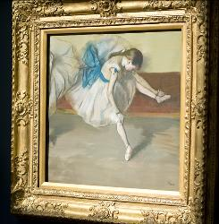 """Edgar Degas' painting """"Dancer in Repose"""" sold for just over $37 million, an all-time high for the artist, in November at Sotheby's auction house in New York."""