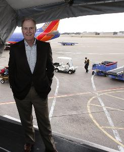 Southwest Airlines CEO Gary Kelly at Love Field in Dallas