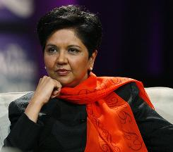 Indra Nooyi of PepsiCo is among the 13 female CEOs running the country's largest 500 publicly traded companies.