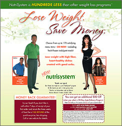 Dan Marino and Marie Osmond star in an ad for the NutriSystem diet plan. The company is working on its website, too.