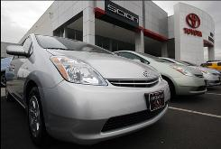 2009 Prius sedans sit at a Toyota dealership in Frederick, Colo., on Nov. 27.