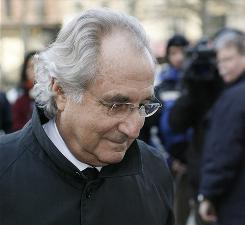 Besieged money manager Bernard Madoff arrives at Federal Court in New York in January.