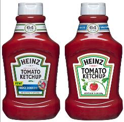 Heinz updates its ketchup label.
