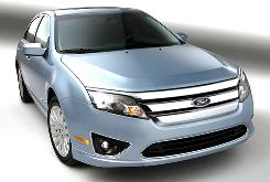 The 2010 Ford Fusion hybrid's driving feel is good, and that's important.