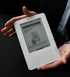 The Kindle 2 can read text aloud, but it's a little robotic.