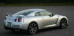 The 2009 Nissan GT-R has crisp styling that combines with a 480-horsepower V-6 for a top speed of about 195 mph.